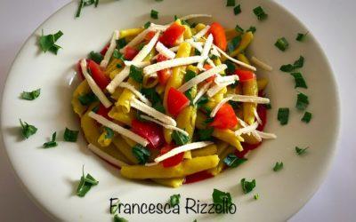 Pasta fresca con curcuma e peperoni