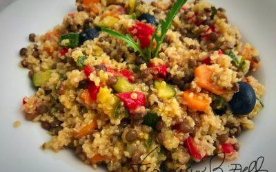 Insalata di Quinoa con lenticchie
