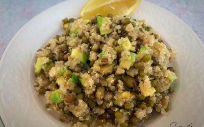 Quinoa e fagioli verdi azuki